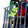 Charlie Trussell—lifted by his dad, Shawn Trussell, who works at Blackburn Industrial Park—surveys Gloucester Harbor from his perch on the playground at Stage Fort Park on Tuesday. Jesse Poole/Gloucester Daily Times Dec. 15, 2011
