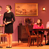 """ALLEGRA BOVERMAN/Staff photo. Gloucester Daily Times. Rockport: The """"Dining Room,"""" by A. R. Gurney, will be performed on  Thursday, December 8th at 7:30, Friday, December 9 at 7:30 p.m. and Saturday, Dec. 10 at 7:30 p.m. at  John Lane Auditorium at 24 Jerden's Lane. From left are: Sam Cunningham, Rachel Sternlicht, Sarah Bisnick and David Fox."""