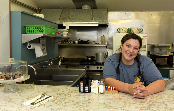 ALLEGRA BOVERMAN/Staff photo. Gloucester Daily Times. Gloucester: Alicia DeWolfe, of Mamie's Kitchen on Pleasant Street.