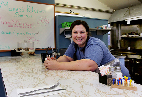 ALLEGRA BOVERMAN/Staff photo. Gloucester Daily Times. Gloucester: Alicia DeWolfe of Mamie's Kitchen on Pleasant Street.
