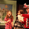 "ALLEGRA BOVERMAN/Staff photo. Gloucester Daily Times. Gloucester: The Eastern Point Day School student body performed their annual holiday production, ""The Jolly Christmas Postman,"" at the Gloucester Stage Company on Monday evening. There was also an exhibit of their artworks in the lobby. In the ""Three Little Pigs at the Wolf's House"" scene, are, from left: Brianna Ward, Sophia Palumbo, Lainy Turner and Mark Turner."