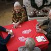 ALLEGRA BOVERMAN/Staff photo. Gloucester Daily Times. Gloucester: Playing bridge at the Rose Baker Senior Center on Thursday afternoon are, clockwise from top center: Marcella Ramey, Peter Jenner, Bruce Campbell and Phyllis Malone. They play every Thursday at 1 p.m. and welcome more participants to come play with them. Contact the center at 978-281-9765 or stop in at 6 Manuel F. Lewis Street, Gloucester.