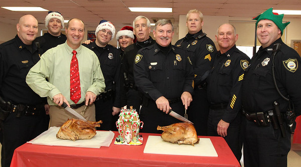 Courtesy photo/Gloucester Daily Times. Rockport: Members of the Rockport Police Department served lunch to Rockport Elementary School students on Friday. The school and police department have been planning to do this for a while and hope to make it a new tradition.
