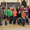 Jim Vaiknoras/Gloucester Times: Gloucester high students sing carols in German to residences at the Rose Baker Senior Center Monday.