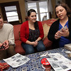 "Allegra Boverman/Gloucester Daily Times. From left are Tylor Hurst and Jenny Sonia, both Rockport High School seniors (Sonia is also a DECA member) helping interior designer Sarah Kelly of Rockport with her decorations she was making for an inn that will be taking part in the second Sea Shells and Jingle Bells benefit featuring a holiday inn and house tour takes place on Saturday, Dec. 8 from 1 p.m. to 5 p.m. featuring 12 homes and inns. Each site will feature a sampling of food or drink.  Proceeds support the Rockport High School DECA program and marketing classes. Tickets are available at: Rockport Inn and Suites at 183 Main St. and Toad Hall Bookstore, both in Rockport, or online at <a href=""http://seashellsandjinglebellsrkpt.blogspot.com/"">http://seashellsandjinglebellsrkpt.blogspot.com/</a>."