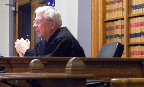 James Niedzinski/Gloucester Daily Times. Judge Thomas R. Murtagh hears a statement from Christopher Weld Jr., representing the plaintiffs during a hearing Thursday afternoon at Lawrence Superior Court.