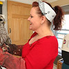 Allegra Boverman/Gloucester Daily Times. Jodi Swenson of Gloucester, a state and federally permitted wildlife rehabilitator, was taking care of this barred owl that was found by her daughter injured on School Street near the Route 128 ramps on Tuesday. Swenson later released the raptor at dusk on Wednesday once it was checked over by a veterinarian in the afternoon.
