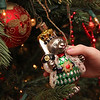 """Allegra Boverman/Gloucester Daily Times. Detail of ornaments on a tree at a 1920s-style home in Rockport that will be part of the second SeaShells and Jingle Bells benefit featuring a holiday inn and house tour takes place on Saturday, Dec. 8 from 1p.m. to 5 p.m. featuring 12 homes and inns. Each site will feature a sampling of food or drink.  Proceeds support the Rockport High School DECA program and marketing classes. Tickets are available at: Rockport Inn and Suites at 183 Main St. and ToadHall Bookstore, both in Rockport, or online at<a href=""""http://seashellsandjinglebellsrkpt.blogspot.com/"""">http://seashellsandjinglebellsrkpt.blogspot.com/</a>."""