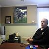 Jim Vaiknoras/Gloucester Times: Essex Police Chief Peter Silva in his office in the trailer at the police station in Essex.