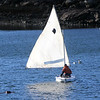 Allegra Boverman/Gloucester Daily Times. A man sets sail in Smith's Cove in East Gloucester close to Rocky Neck on Friday afternoon.