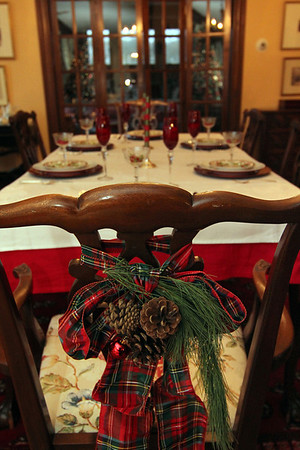 "Allegra Boverman/Gloucester Daily Times. In the dining room of a 1920s-style home in Rockport that will be part of the second Sea Shells and Jingle Bells benefit featuring a holiday inn and house tour takes place on Saturday, Dec. 8 from 1 p.m. to 5 p.m. featuring 12 homes and inns. Each site will feature a sampling of food or drink.  Proceeds support the Rockport High School DECA program and marketing classes. Tickets are available at: Rockport Inn and Suites at 183 Main St. and Toad Hall Bookstore, both in Rockport, or online at <a href=""http://seashellsandjinglebellsrkpt.blogspot.com/"">http://seashellsandjinglebellsrkpt.blogspot.com/</a>."