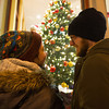Desi Smith Staff photo/Gloucester Daily Times.  Bronwen Gail gives her boyfriend Casey Watson a smile as they do some window shopping Thursday night as they walked along Main Street during Family and Friends Night. Stores stayed open late with most offering discounts or specials. The couple are visiting from PA. December 12,2013