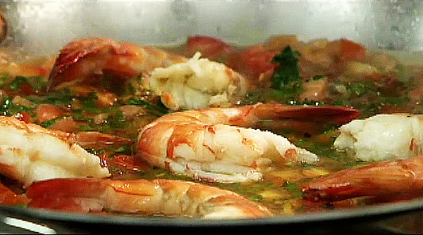 MPN/Courtesy photo<br /> The shrimp finish cooking. Cooking them too long will make the shellfish tough.