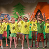 "Desi Smith /Gloucester Daily Times.  Just some of the fifth grade student that will perform three shows of ""Summer Camp"" a musical caper about finding a place to belong, starting Thursday February 27 at 4pm, Friday the 28th and Saturday March 1st at 7pm all at the Manchester Memorial Elementary School. <br />   February 26,2014."