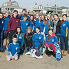 "Desi Smith Staff photo/Gloucester Daily Times.    Gloucester High School rotarian students pose for a photo before heading into the fridged water at Long Beach for ""Freezin' For a Reason"" polar plunge hosted by Gloucester Rotary as a benefit in fight against polio Saturday morning.  February 1,2013."
