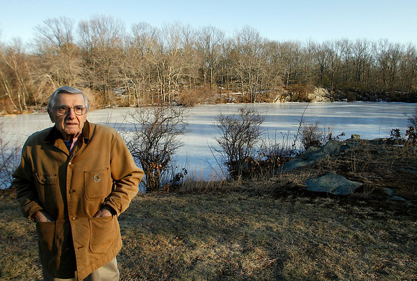 Gloucester: Constantine Maletskos of Lanesville recently placed most of his land under a conservation restriction through the Essex County Greenbelt. Photo by Kate Glass/Gloucester Daily Times Tuesday, February 17, 2009