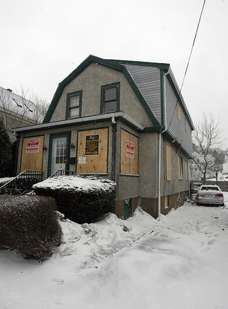 Gloucester: The home at 74 Eastern Ave. will have to be rebuilt following the explosion at 76 Eastern Ave. last Sunday. Photo by Kate Glass/Gloucester Daily Times Tuesday, February 3, 2009
