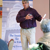 "Gloucester:  David Hartstein, founder and CEO of Kabloom flowers speaks to those who attended the economic forum series ""Weatehring the Storm"" sponsored by the Gloucester Daily Times and the Cape Ann Chamber of Commerce at The Gloucester House Thursday morning. Mary Muckenhoupt/Gloucester Daily Times"