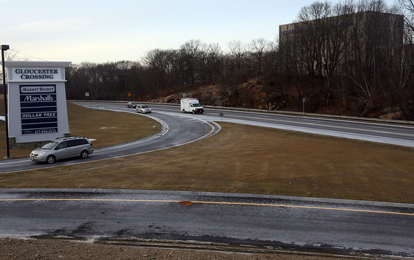 Gloucester: The Inspector General has concern about state money used for the entrance and exit to Gloucester Crossing. Photo by Kate Glass/Gloucester Daily Times