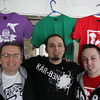 Gloucester: Pater Favazza and his sons Matt and Chris have founded a company, Karben Threads, that makes organic T-shirts and run the company out of their Gloucester home. Mary Muckenhoupt/Gloucester Daily Times