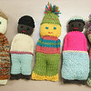 Gloucester: Knit dolls that students and teachers are making ot send to Haiti at O'Maley Middle School. Mary Muckenhoupt/Gloucester Daily Times