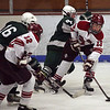Gloucester: Gloucester's Alex Webb passes to Peter Mondello during their 9-1 win at the Talbot Rink last night. Photo by Kate Glass/Gloucester Daily Times