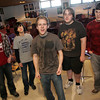 "Rockport: From left, Aedan McCarthy, Zackery Selig, O'Malley Bach, Benjamin Tuck and Nathan Cruz sing ""Brown Eyed Girl"" for music teacher Patti Pike at Rockport High School Tuesday afternoon.  The boys are all sophomores and they make up the men of the madrigal chorus. Mary Muckenhoupt/Gloucester Daily Times"