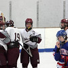 Gloucester: Rockport celebrates after Brendan Douglass scores in the first period of the hockey game against Minuteman at Dorothy Talbot Rink Saturday afternoon.  Mary Muckenhoupt/Gloucester Daily Times