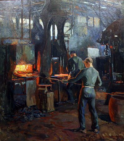 Rockport: The Old Iron Forge by Wilester Stevens. Photo by Kate Glass/Gloucester Daily Times