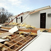 Gloucester: The roof of part of the Ocean View Inn and Resort on Atlantic Road was completely blown off during the storm that hit Cape Ann Thursday night into Friday morning.  Mary Muckenhoupt/Gloucester Daily Times