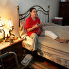 Gloucester: Geraldine Favaloro recovers in her Gloucester home after be struck by a car near her home on Eastern Avenue about a month ago.  The driver was texting when she hit Geraldine who suffered a variety of injuries including a fractured right knee, head injury and ligament damage to her left knee. Mary Muckenhoupt/Gloucester Daily Times