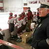 Gloucester: Frank La France, who has volunteered as the EMT for all Gloucester hockey and football home games for 37 years, is working his last game on Wednesday. Photo by Kate Glass/Gloucester Daily Times