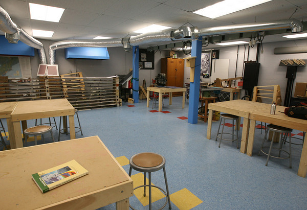 Gloucester: The new science center at O'Maley Middle School, which was funded through a grant from MIT. Photo by Kate Glass/Gloucester Daily Times
