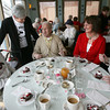 Rockport: Rockport Superintendent Sue King chats with Stan Meuse, right, and George Ramsden Sr., left, as they join Den-Mar Activities Director Sue Olson and Stan's wife, Betty Meuse, at the Rotary Club of Rockport's Annual Valentine Luncheon at Bracketts Oceanview Restaurant yesterday. Neither of the Meuses could remember how long they have been married, though they've passed their 50th anniversary. Photo by Kate Glass/Gloucester Daily Times