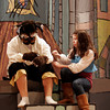 "Gloucester: Alex Grace as Belle and Sam Bevins as the Beast, rehearse a scene from O'Maley Middle School's production of ""Beauty and the Beast,"" which runs Friday, March 4 and 11 at 7pm and Saturday, March 5 and 12 at 1pm. Photo by Kate Glass/Gloucester Daily Times"