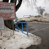 Manchester: The Singing Beach parking lot is now closed to non-residents because too many of the spaces are now occupied by snow piles. Photo by Kate Glass/Gloucester Daily Times