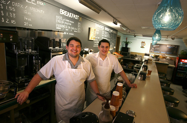 Rockport: Marc and Ross Brackett recently took over The Coffee Shop in Rockport and reopened as Brothers Brew. They renovated the space and have added several items to the menu, though many popular offerings remain. Photo by Kate Glass/Gloucester Daily Times