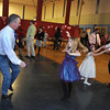 "Gloucester: Peter Marshall and his daughter Lily 7, (left) and Jimmy Militello with his daughter Bailee 5, dance to the music by DJ Tony ""D"" Saturday night at the YMCA's Father Daughter Dance. Desi Smith/Gloucester Daily Times. February 12,2011."
