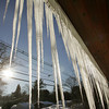 Gloucester: Many houses on Rt. 133, like this home on Eastern Avenue, are covered in icicles due to built up snow and ice dams. Ice damn can trap water on your roof and cause water to get inside your home. Mary Muckenhoupt/Gloucester Daily Times