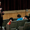 Rockport: Congressman John Tierney answers questions from juniors and seniors at Rockport High School yesterday morning. Photo by Kate Glass/Gloucester Daily Times