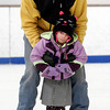 Gloucester: Peter Brau guides his daughter, Laurel Brau, 4, around the ice at the Dorothy Talbot Rink during public skate on Sunday. It was Laurel's second time skating and she said she would like to take lessons. Photo by Kate Glass/Gloucester Daily Times