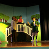 "Essex: Justin Figurido as the wolf and Larson Tolo as the troll decide on a plan while surrounded by the three little pigs, Holly Fossa, Elizabeth Hull, and Kayley Wright, and the three billy goats gruff, Nell McKeon, Courtney Doane, and Savannah Reilly, while rehearsing for Essex Elementary School's production of ""The Surprising Story of the Three Little Pigs,"" which runs tonight and tomorrow at 6:30. Photo by Kate Glass/Gloucester Daily Times"