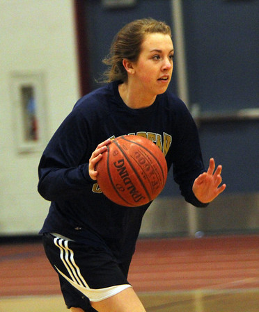 ALLEGRA BOVERMAN/Staff photo.Gloucester Daily Times. Gloucester: Gloucester's Sophie Black, a junior, in action during the girls varsity basketball team practice on Monday.