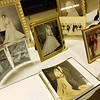 "ALLEGRA BOVERMAN/Staff photo. Gloucester Daily Times. Gloucester: The Women's Guild of Holy Family Parish held a ""Romance""- themed evening on Tuesday night at St. Ann Church. Members brought three generations of wedding dresses to display, wedding photos and wedding album, cake toppers, bridesmaid and mother-of-the-bride dresses and other memorabilia. There was a candy table, cupcakes on every table, and champagne, too."