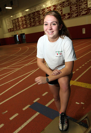 ALLEGRA BOVERMAN/Staff photo. Gloucester Daily Times. Gloucester: Gloucester High School junior sprinter Bianca Giacalone.