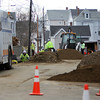 ALLEGRA BOVERMAN/Staff photo. Gloucester Daily Times. Gloucester: Streets are completely closed off in some cases around the Summer Street area. This is the scene on Granite Street at Summer Street on Tuesday.