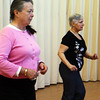 Jean Leonowert, left, and Josephine Anderson were two of four dancing in the Latin Moves dance program held at the Rose Baker Senior Center on Wednesday, a class which takes place every Wednesday at 10 a.m. Jesse Poole/Gloucester Daily Times Feb. 08, 2012