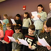 ALLEGRA BOVERMAN/Staff photo. Gloucester Daily Times. Gloucester: Second and third graders at The Gloucester Community Arts Charter School sing on Monday afternoon.