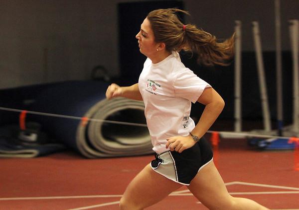 ALLEGRA BOVERMAN/Staff photo. Gloucester Daily Times. Gloucester: Gloucester High School junior sprinter Bianca Giacalone.