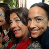 ALLEGRA BOVERMAN/Staff photo. Gloucester Daily Times. Gloucester: <br /> Sporting delicate face art are, from left: Caroline Forsyth of Gloucester, mom Carol Quadros of Gloucester and sister Christina Godfrey, originally of Gloucester, now of Peabody. They were participating on Tuesday during Mardi Gras festivities and the Cape Ann YMCA's full day fundraiser at Latitude 43. The fundraiser is for Y teens and chaperones to travel to and volunteer in New Orleans during April school vacation and help rebuilt homes destroyed by Hurricanes Katrina and Rita.